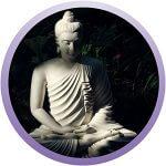 Buddha-Figur in Meditationshaltung