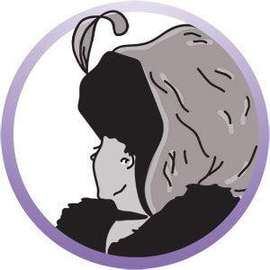 Zeichnung in der sowohl der Kopf einer alten oder jungen Frau zu sehen ist
